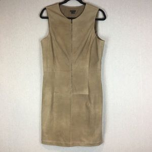 Theory Sheath Dress Size 12 Karisse Dusty Nude